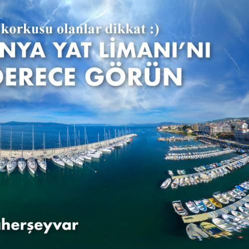 Mudanya Yat Limanı'nı 360 Derece Gökyüzünden gördünüz mü?